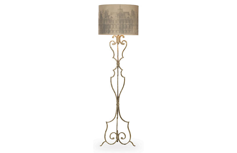 Heath Floor Lamp, Antiqued Gray