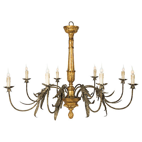 Ibarra 8-Light Chandelier, Gold/Gray