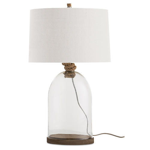 Emerson Table Lamp, Clear/Natural
