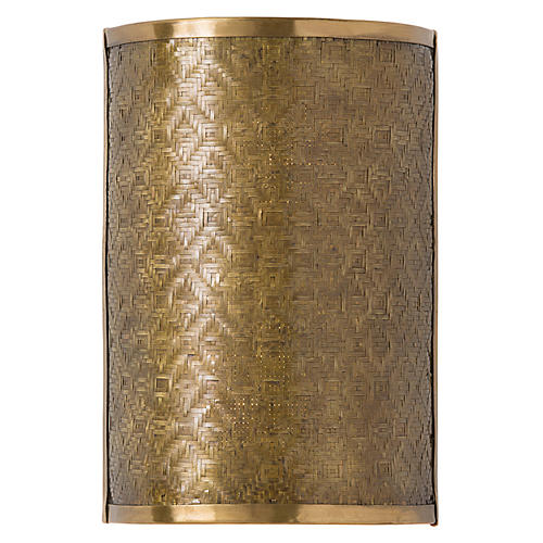 Fable Sconce, Antiqued Brass