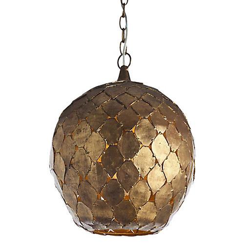 Osgood Pendant, Gold Leaf
