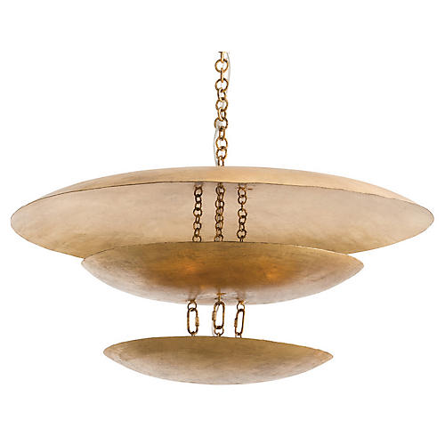 Florko Chandelier, Gold Leaf