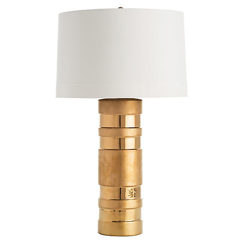 Dorothy Table Lamp, Gold/Ivory