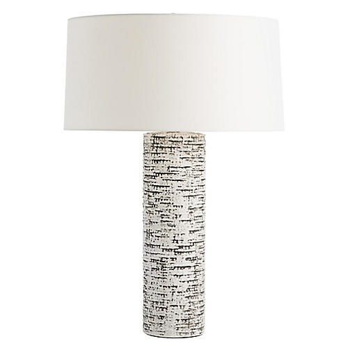 Nico Table Lamp, Ivory/Charcoal