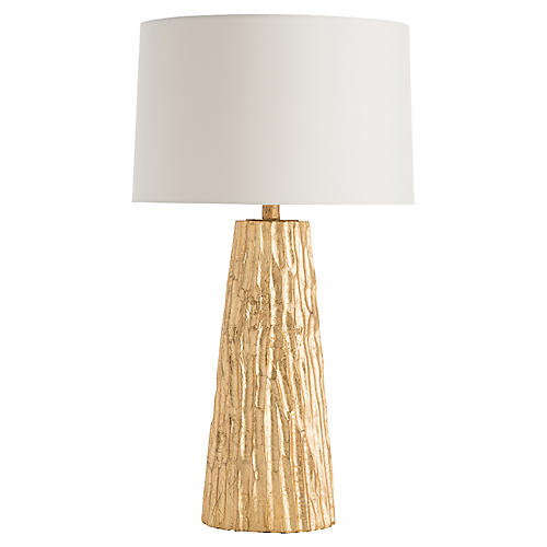 Fowler Table Lamp, Gold Leaf