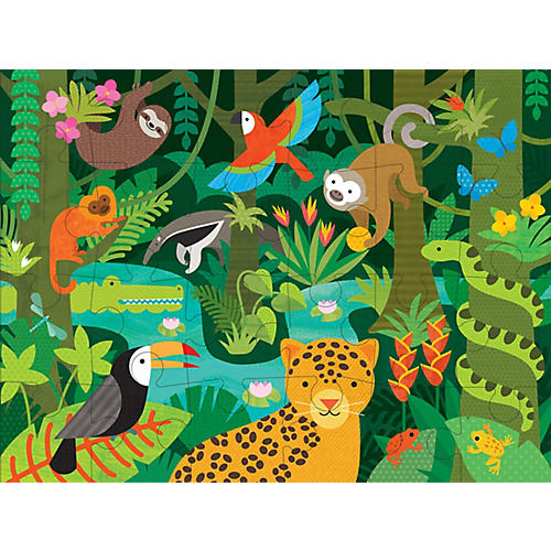 Wild Rainforest Floor Puzzle, Green/Multi