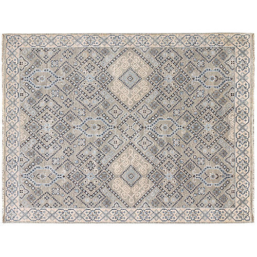 Ella Hand-Knotted Rug, Silver