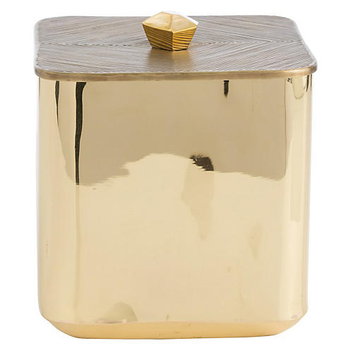 "10.5"" Marcel Ice Bucket, Gold"