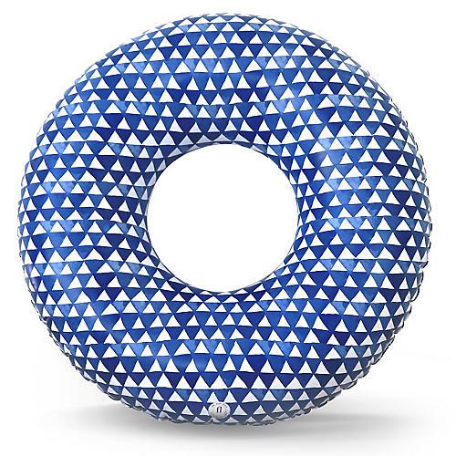 Tulum Pool Float, Blue/White