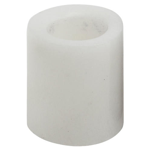 """4"""" Marble Small Candlestick, White"""