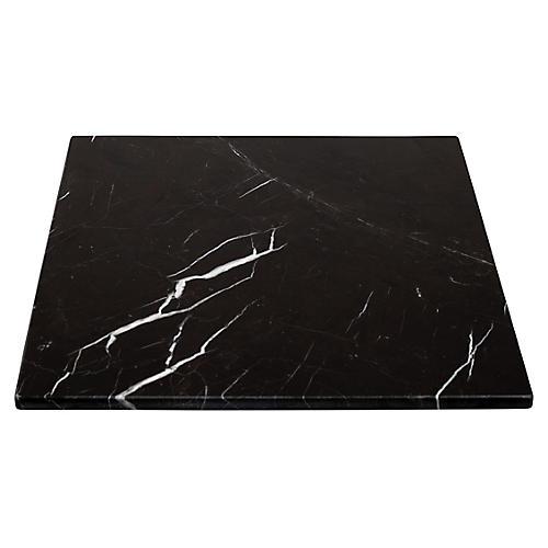 "30"" Marble Square Serving Board, Black"