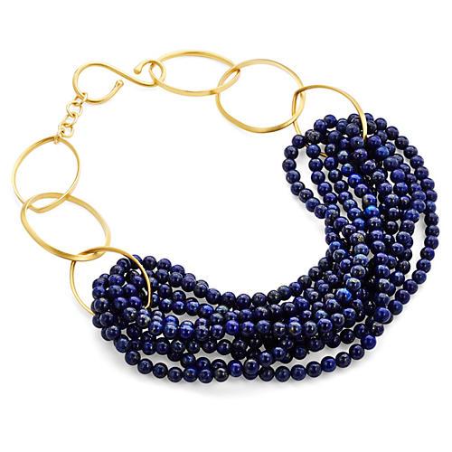 Lapis Lazuli Gold Twist Necklace