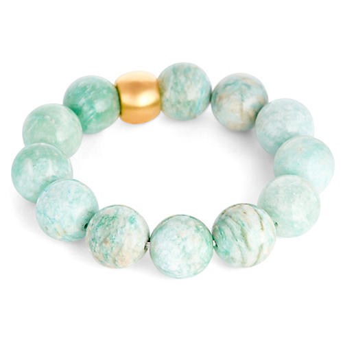 Suki Bracelet, Light Blue/Gold