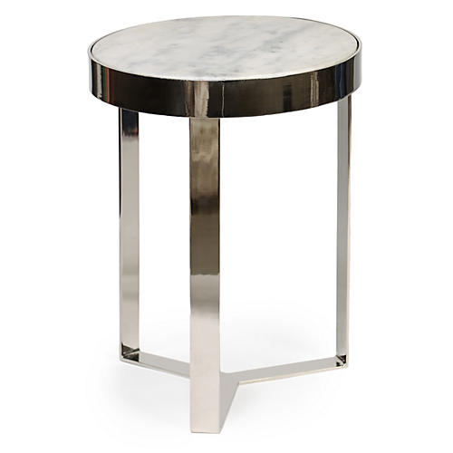 Sabine Side Table, Nickel