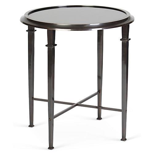 Julia Side Table, Granite/Pewter