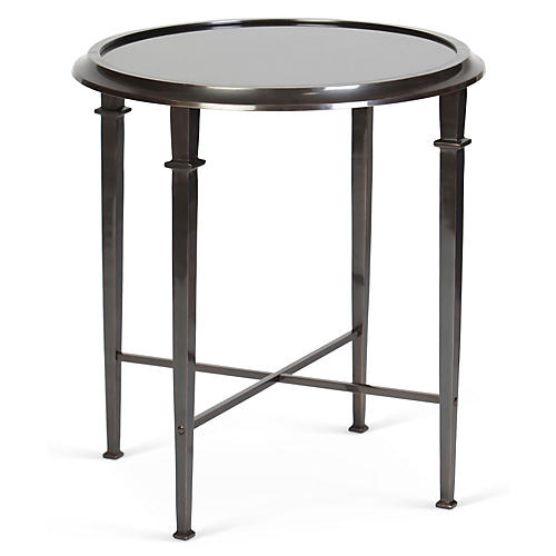 Julia Side Table, Granite/Pewter
