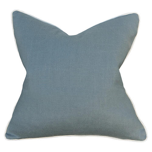 Belgium 22x22 Pillow, Slate Blue