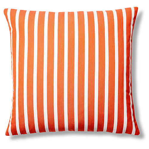 Shore 22x22 Outdoor Pillow, Tangerine