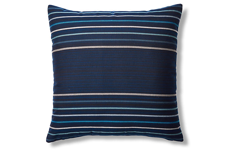 Viento 22x22 Outdoor Pillow, Navy