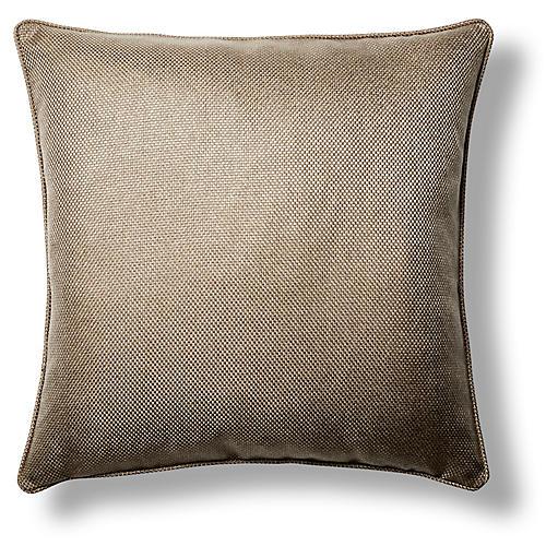 Karma 22xx22 Throw Pillow, Taupe