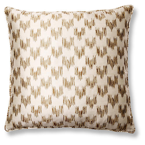 Anatolia Café 22x22 Pillow, Gold/Cream