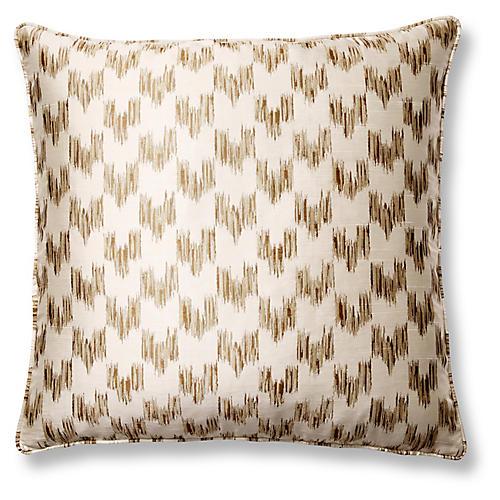 Anatolia Café 22x22 Pillow, Gold/Cream