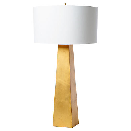 Monolith Table Lamp, Gold Leaf