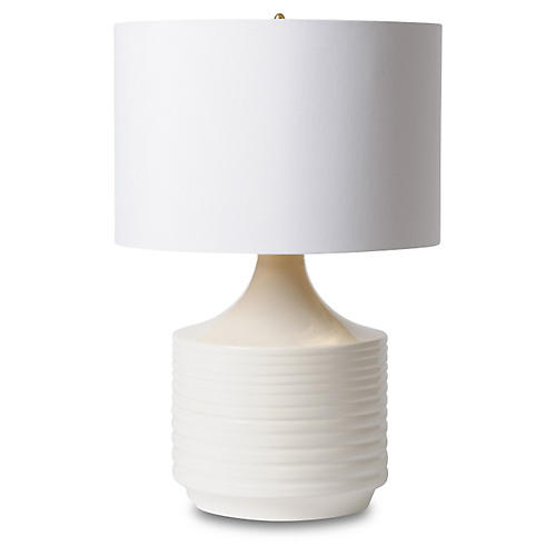 Accordion Table Lamp, Off White