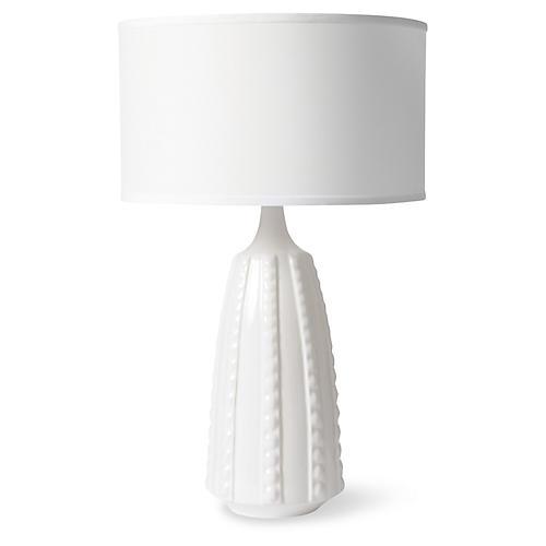 Ribbon Table Lamp, White