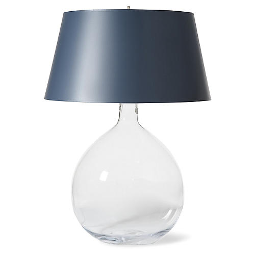 Bulb Extra Large Table Lamp, Clear/Navy