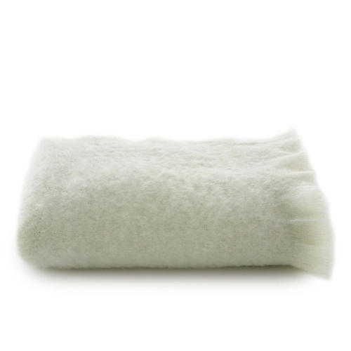 Mohair Throw, Sage