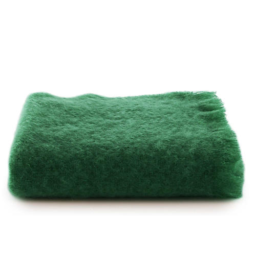 Mohair Throw, Juniper