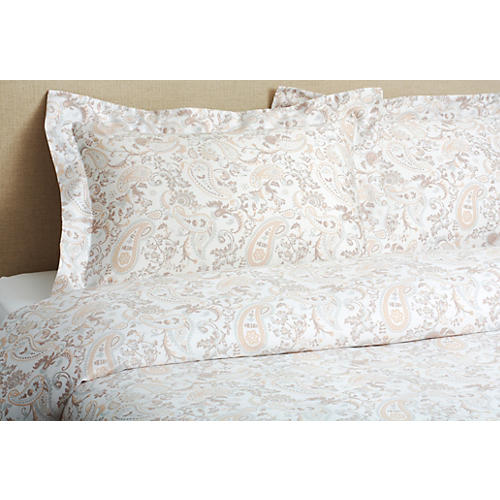 Paisley Mini Duvet Set, Neutral