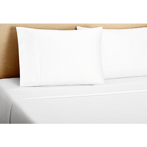 Hemstitch Sheet Set, White