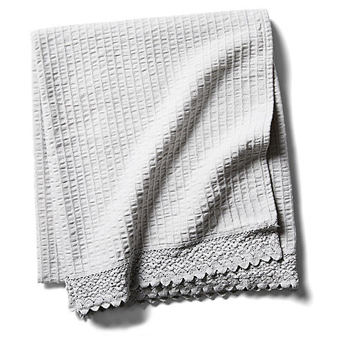 Shelly Romance Throw, Gray