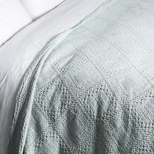 Mosaic Coverlet, Green