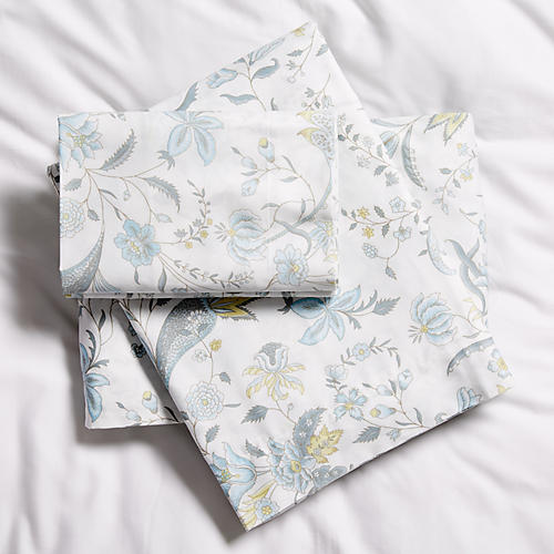 Botanical Sheet Set, Blue