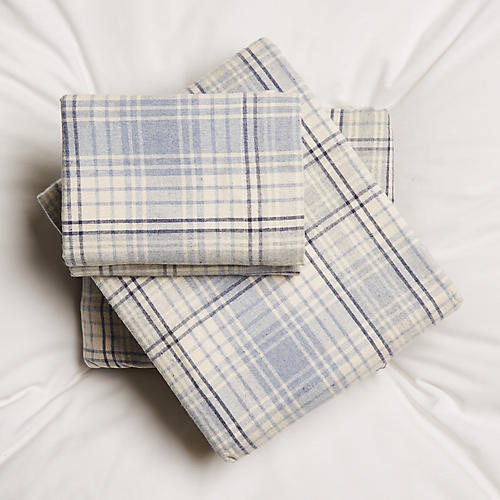Alexander Sheet Set, Cream/Blue