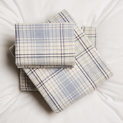 Alexander Sheet Set, Cream/Blue