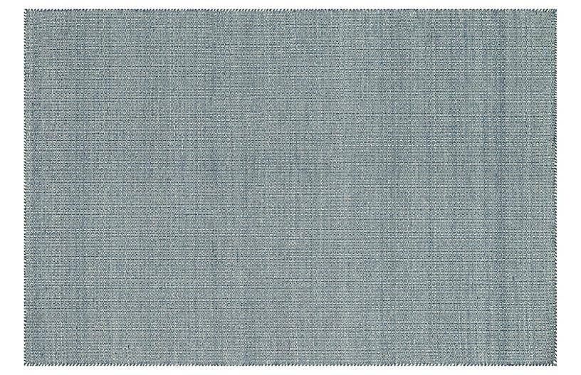 Bedford Flat-Weave Rug, Navy
