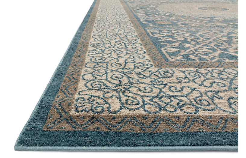 Levan Rug Blue Sand Traditional Rugs By Style Rugs