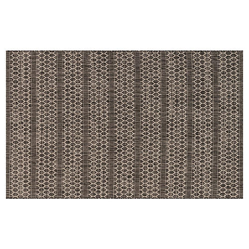 Stewart Outdoor Rug, Black/Gray