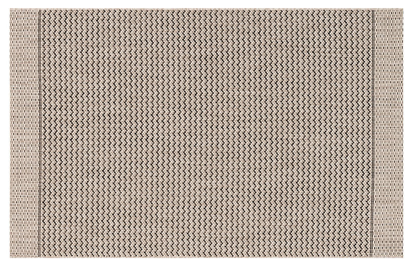 Laural Outdoor Rug, Gray/Black