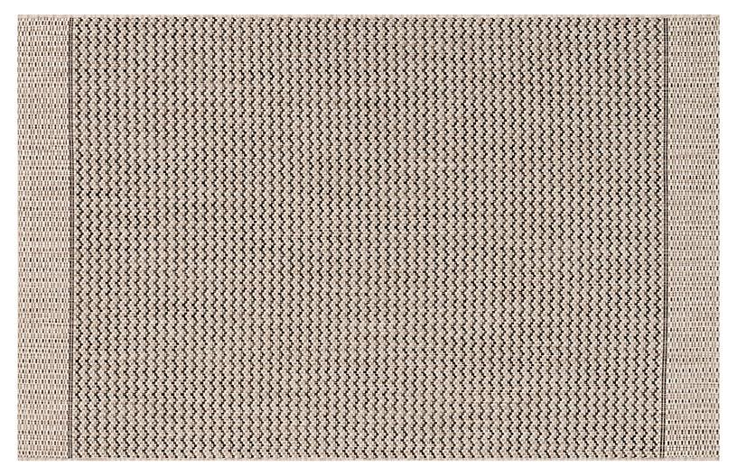 Laural Outdoor Rug, Gray/Black