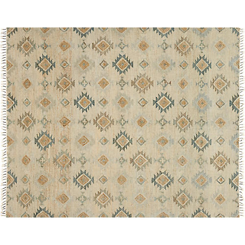 Act Flat-Weave Rug, Pewter