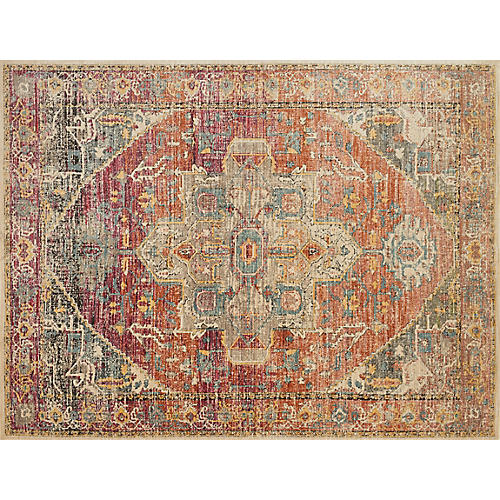 Pyramid Rug, Berry