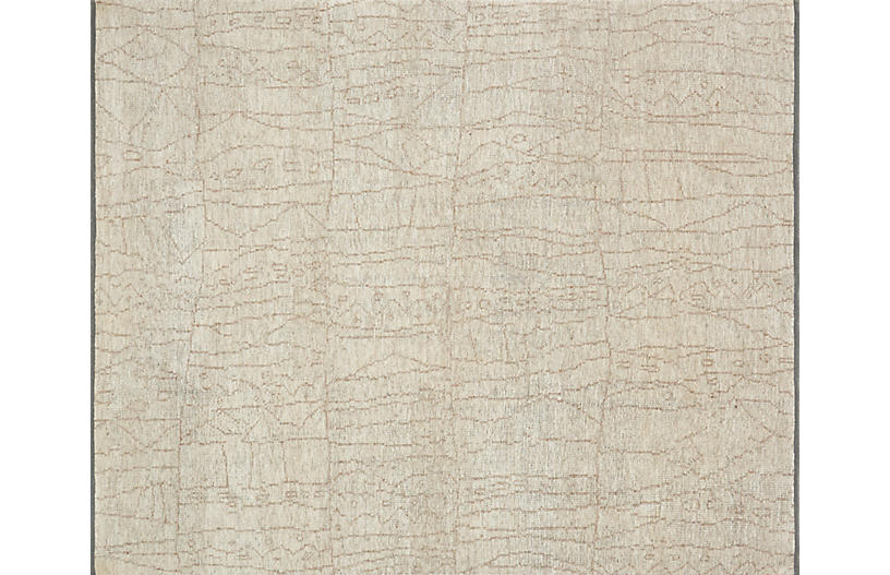 Murray Hand-Knotted Rug, Sand/Taupe