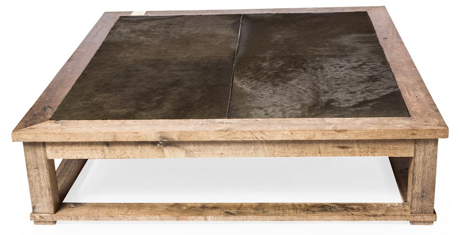 65 Wood Hide Coffee Table Olive Coffee Tables Living Room