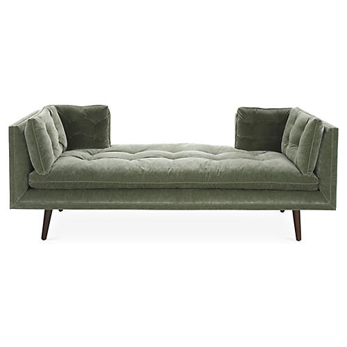 Burlington Daybed, Sage Velvet