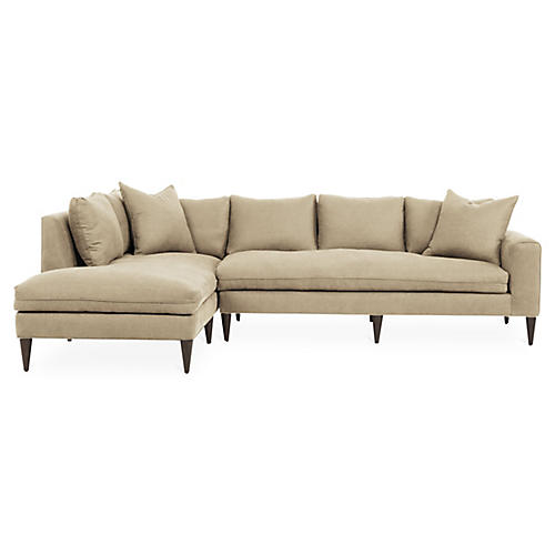 Upton Left-Facing Sectional, Beige